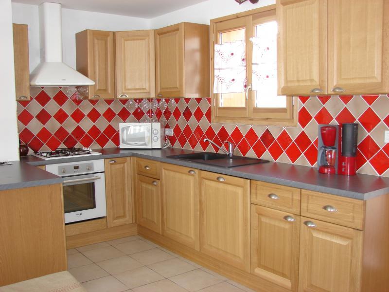 Open-plan kitchen Location Chalet 57805 Montgenevre