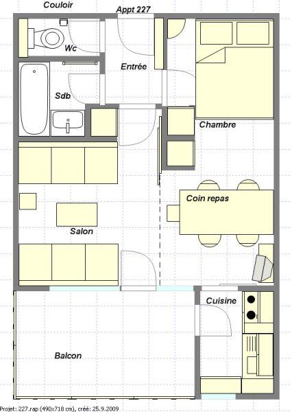 Map of property Location Apartment 57938 La Plagne