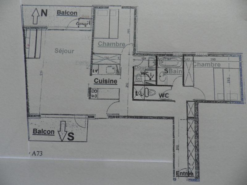 Map of property Location Apartment 58207 La Plagne
