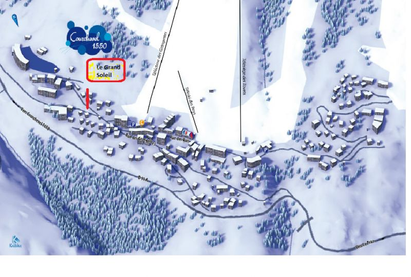 Area map Location Chalet 58837 Courchevel