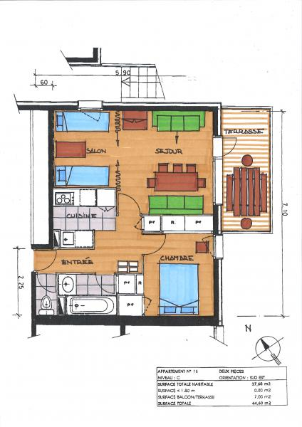 Map of property Location Apartment 58961 Valmorel