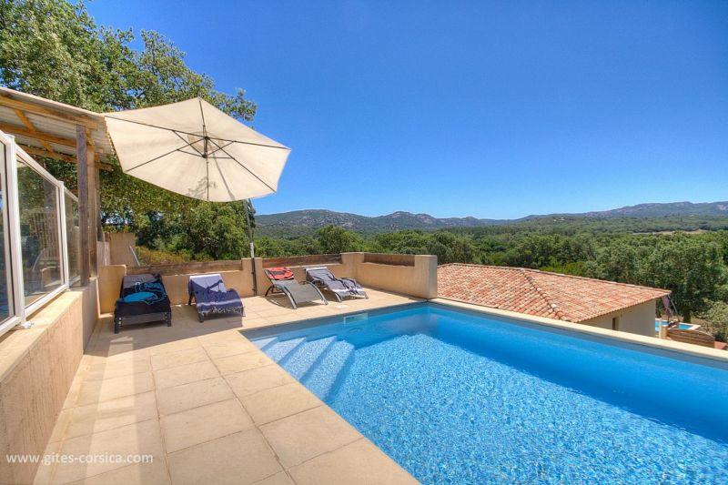 View from the terrace Location Villa 59939 Porto Vecchio