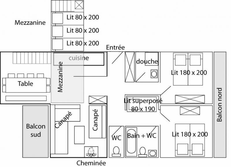 Map of property Location Apartment 60012 Tignes