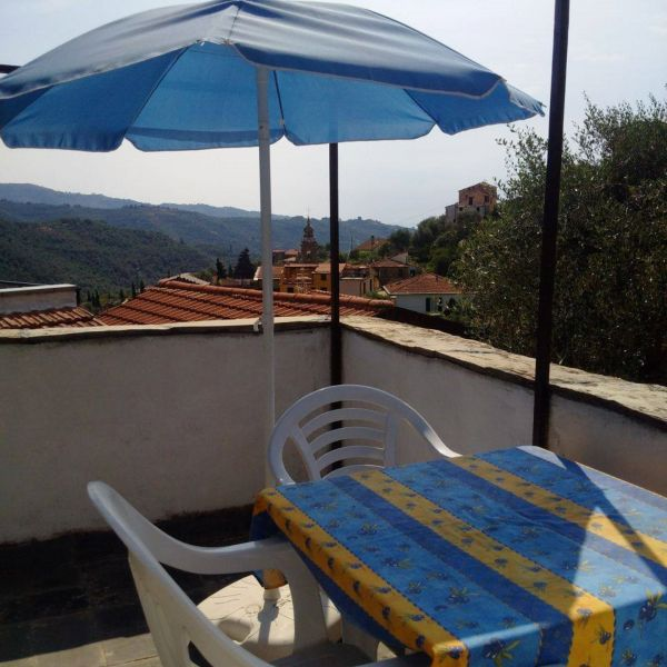 View from the terrace Location Vacation rental 78649 Dolcedo