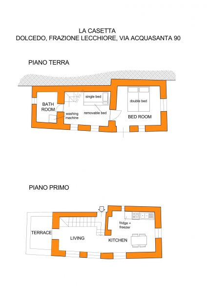 Map of property Location Vacation rental 78649 Dolcedo