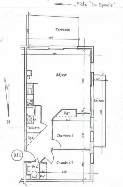 Map of property Location Apartment 97230 Valloire