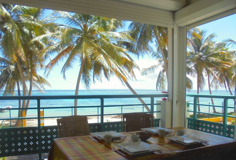 View from the terrace Location Apartment 108495 Sainte Anne (Guadeloupe)