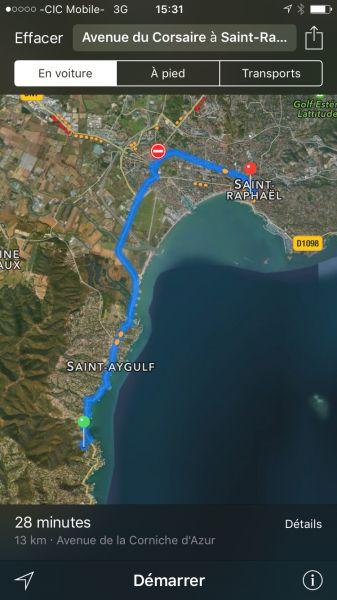 Area map Location Villa 103815 Les Issambres