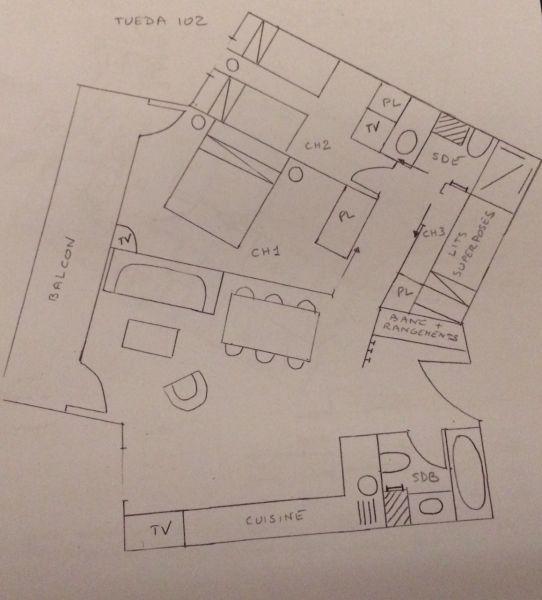Map of property Location Apartment 112657 Méribel