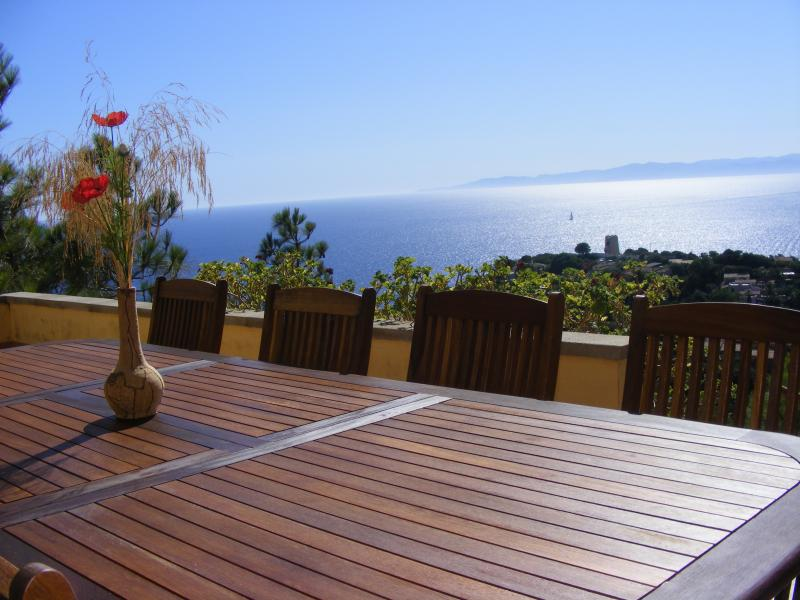 View from the terrace Location Villa 74805 Torre delle Stelle