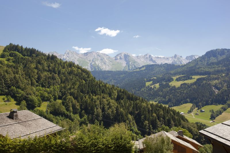 View from the balcony Location Chalet 86535 Le Grand Bornand