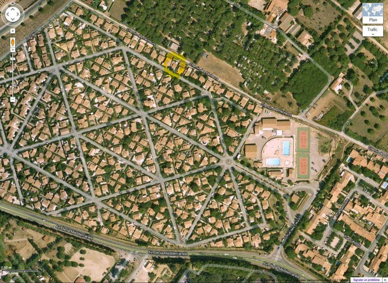 Area map Location Villa 89478 Valras-Plage