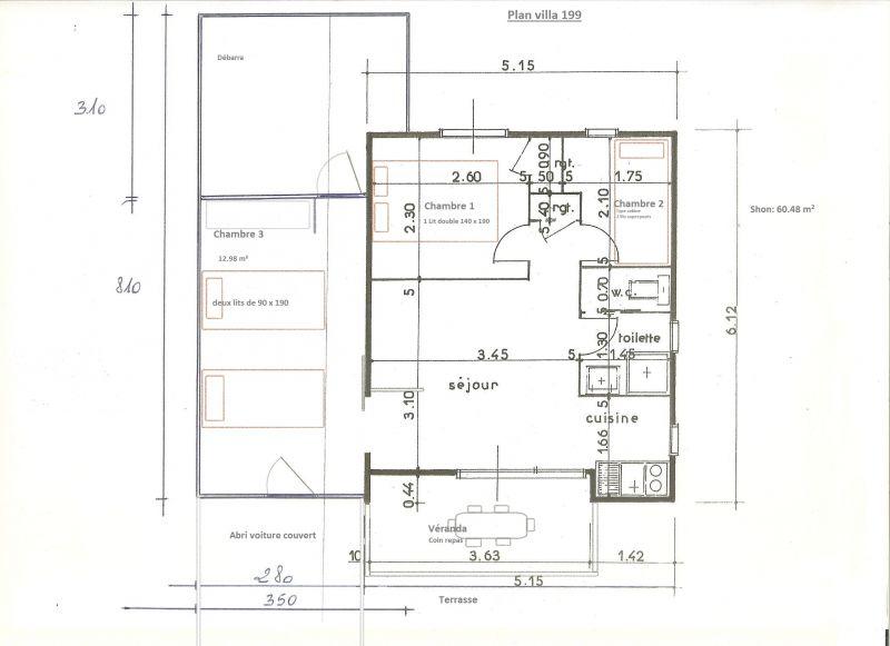 Map of property Location Villa 89478 Valras-Plage