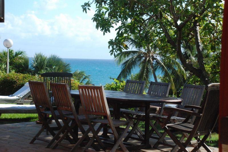 View from the terrace Location Villa 116237 Saint Francois