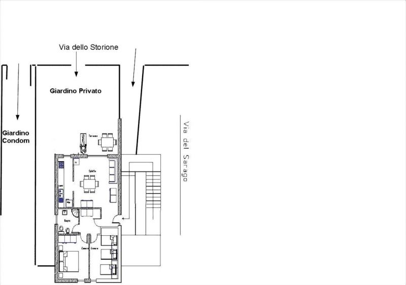 Map of property Location Apartment 113139 Principina a Mare