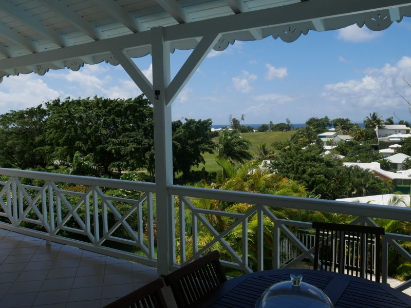 View from the terrace Location Villa 116772 Saint Francois