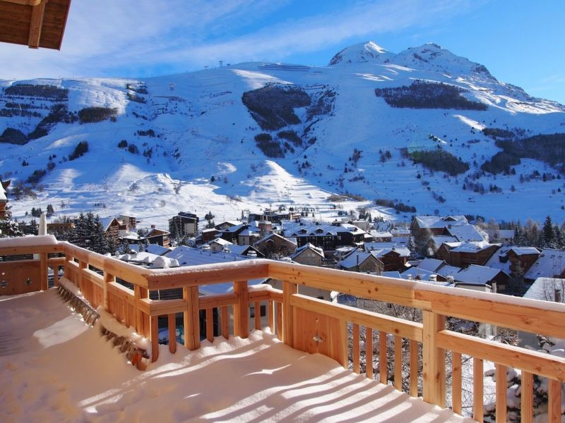 View from the terrace Location Chalet 116881 Les 2 Alpes