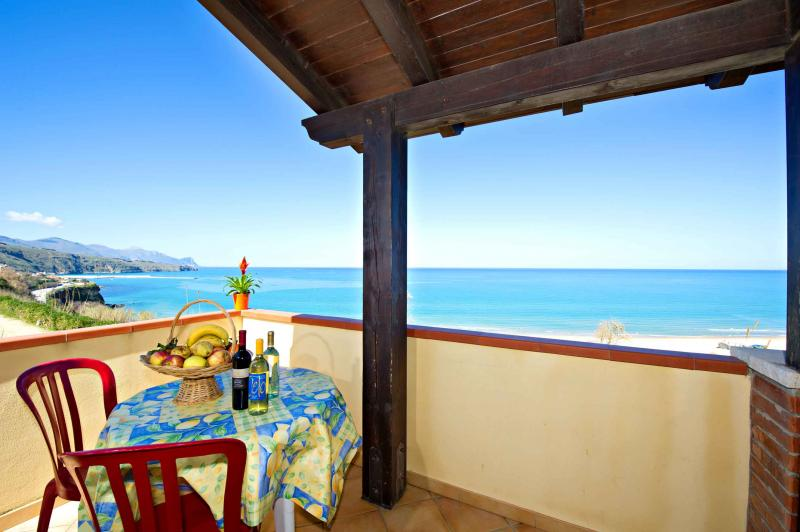 View from the balcony Location House 67481 Castellammare del Golfo