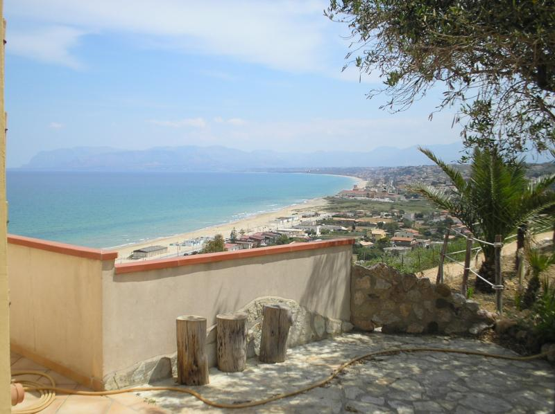 View from the terrace Location House 67481 Castellammare del Golfo
