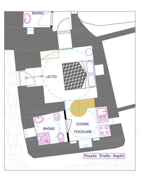 Map of property Location Unusual accommodation 85263 Martina Franca