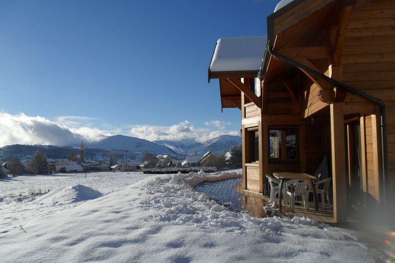 View from the terrace Location Chalet 116834 Ancelle