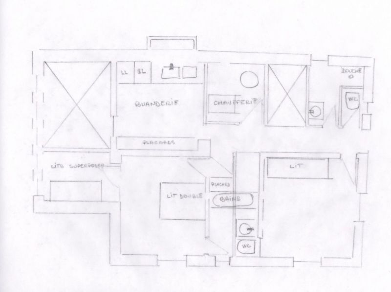 Map of property Location Chalet 117151 Megève