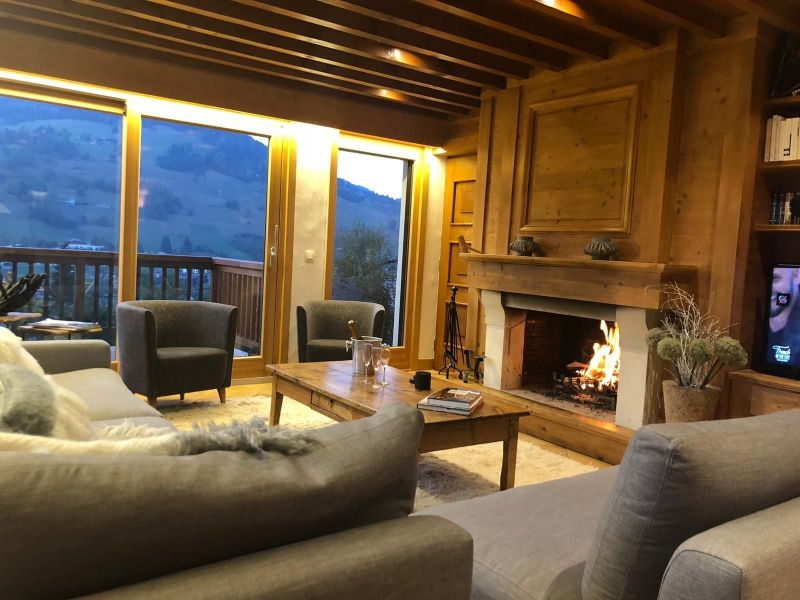 Living room Location Chalet 117151 Megève