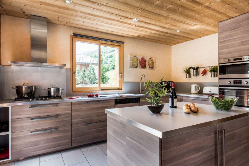 Open-plan kitchen Location Chalet 100576 Les Menuires