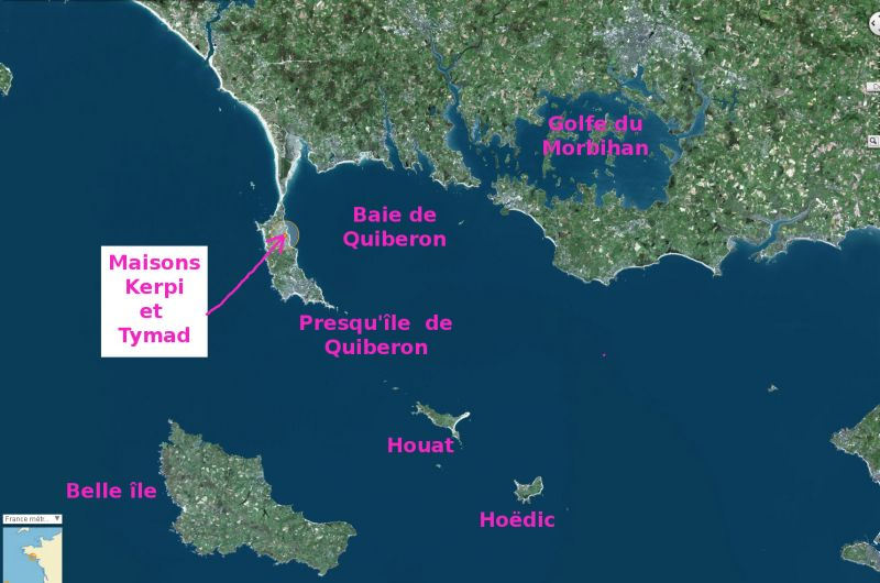 Area map Location House 106018 Saint Pierre Quiberon