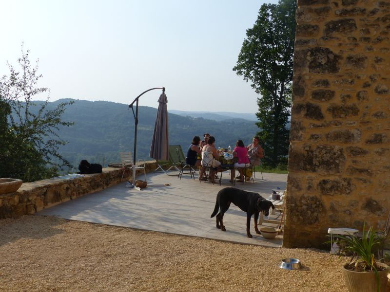 View from the terrace Location House 110852 Sarlat