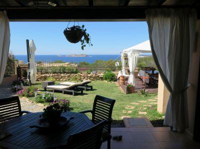 View from the terrace Location Villa 112785 Cala Vadella