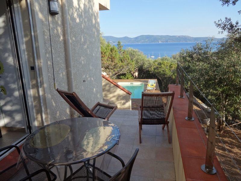 View from the terrace Location Apartment 114070 Porto Pollo