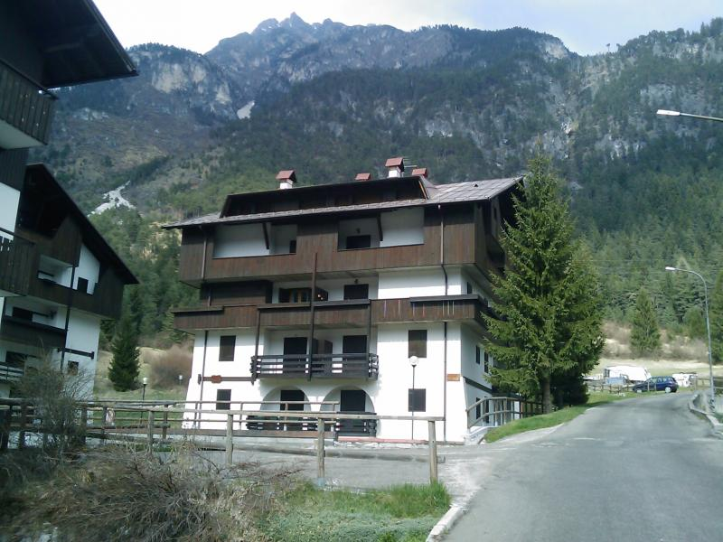 View from the terrace Location Apartment 67023 Auronzo di Cadore