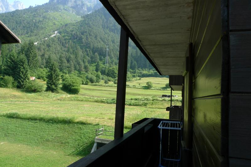 View from the balcony Location Apartment 67023 Auronzo di Cadore