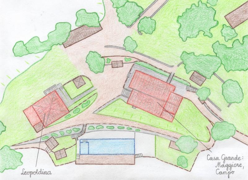 Map of property Location Villa 75874 Siena