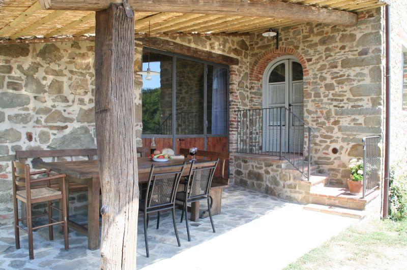 Covered balcony Location Villa 75874 Siena