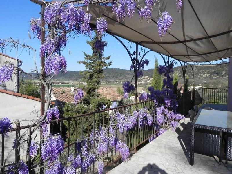 View from the terrace Location Villa 117404 Gréoux Les Bains