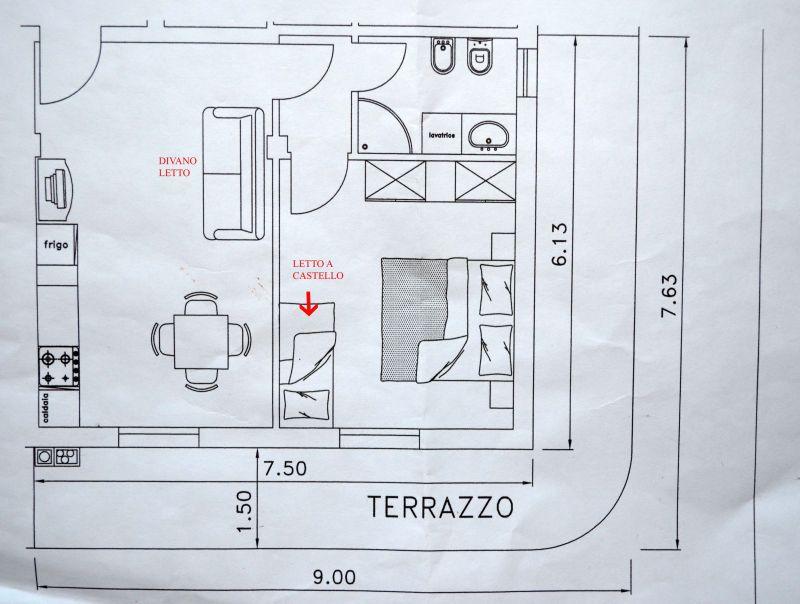Map of property Location Apartment 81806 Bellaria Igea Marina
