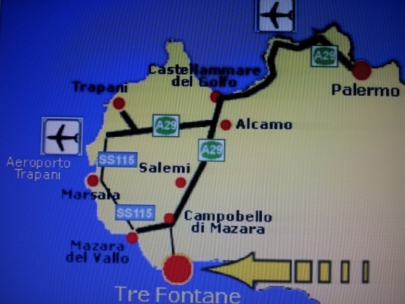 Area map Location Villa 92036 Tre Fontane