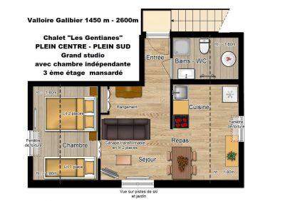 Location One-room apartment 107127 Valloire