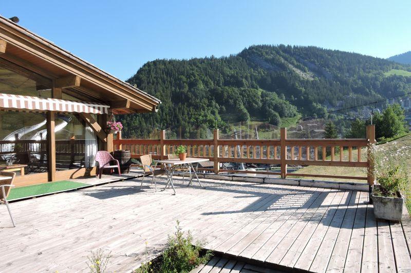 View from the terrace Location Chalet 113553 La Clusaz