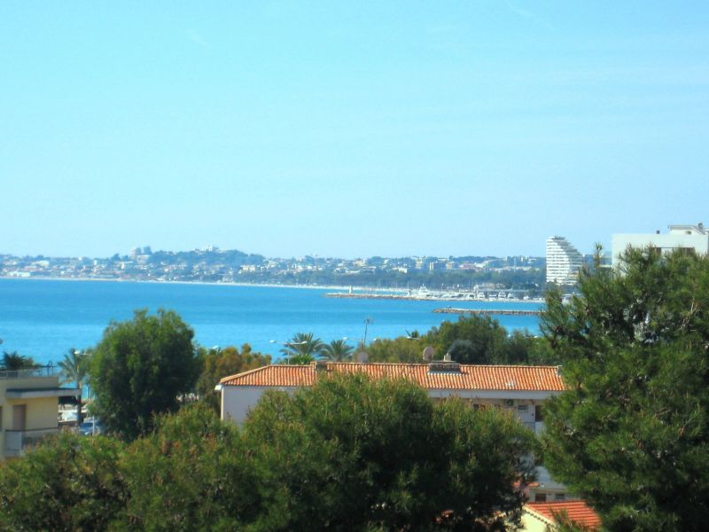 View from the terrace Location One-room apartment 88013 Cagnes sur Mer