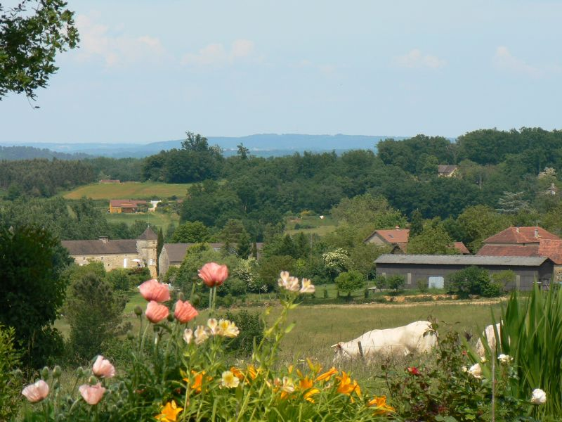 View from the terrace Location House 95956 Sarlat