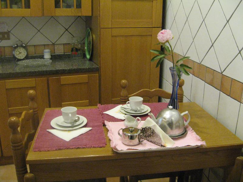 Separate kitchen Location Apartment 66395 Rome