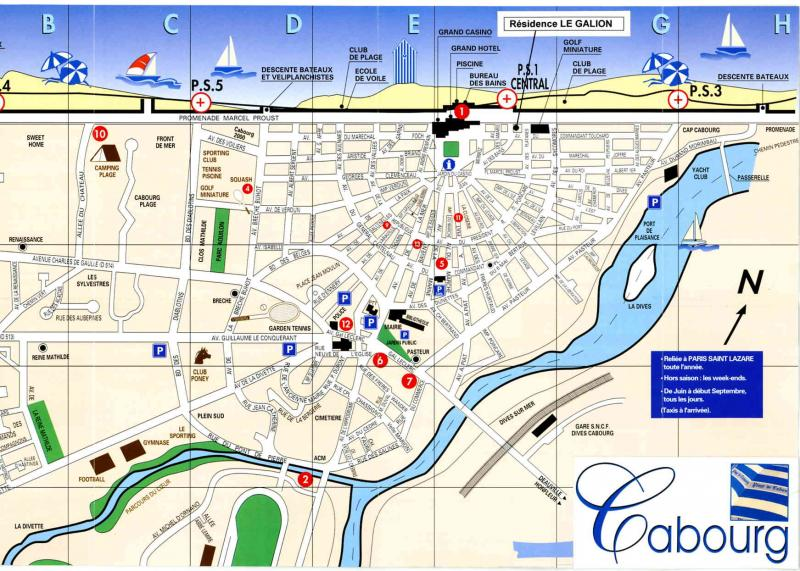Area map Location Apartment 76183 Cabourg