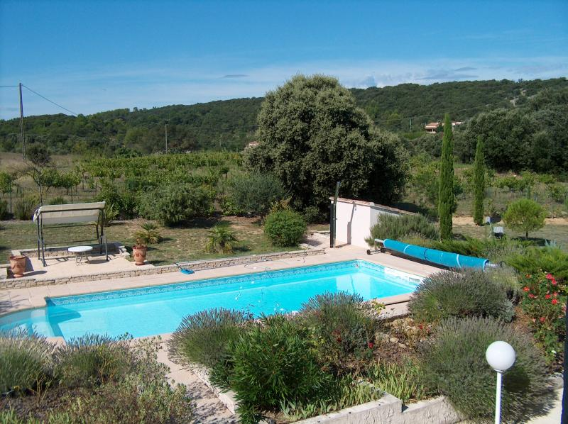 View from the balcony Location Villa 83534 Anduze