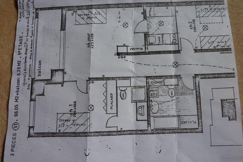 Map of property Location Apartment 90917 Saint Gervais Mont-Blanc