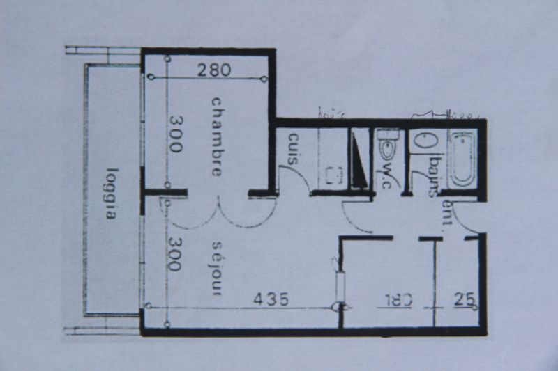 Map of property Location Apartment 106400 Le Corbier