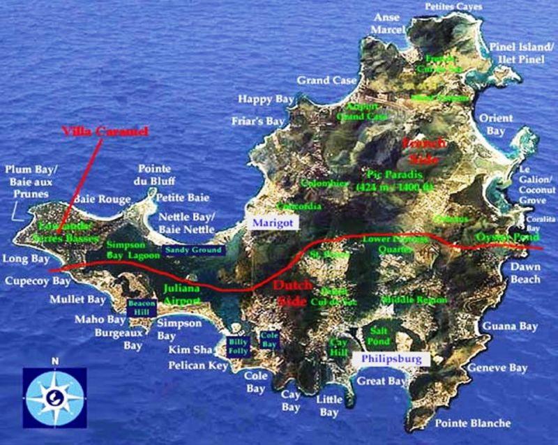 Area map Location One-room apartment 108428 Marigot