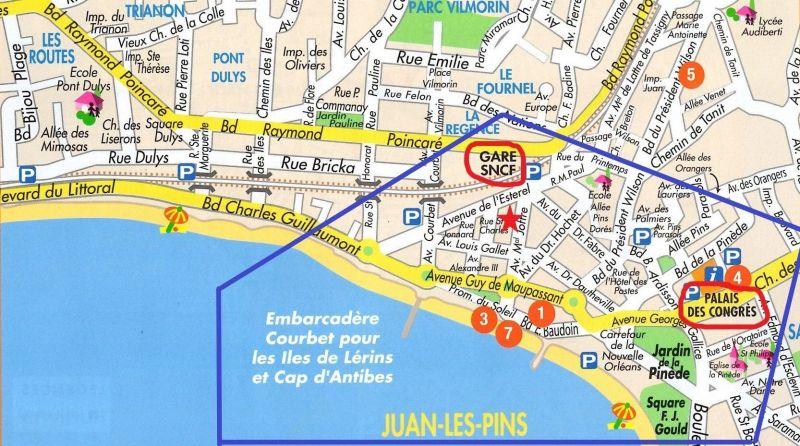 Map of property Location Apartment 78148 Juan les Pins